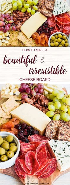 Nothing compares to a great cheese board! Learn how to make a cheese board -- from choosing cheeses & picking accompaniments to composing it all on a board! Charcuterie And Cheese Board, Cheese Boards, Crudite, Antipasto, Buffet, Christmas Party Food, Christmas Foods, Christmas Eve, Cheese Party