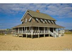 """My dream home in Nags Head, NC. It is one of the """"Unpainted Aristocracy"""" houses on the National Registry of Historic Places and is for sale. Wish I had the 2.4 million to buy."""