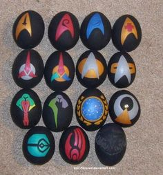 Explore the cosmos with  Easter Eggs decorated with symbols from Star Trek universe.