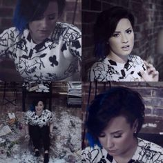Demi Lovato on the music video set for Up