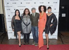 pat cleveland | Pat Cleveland (L-R) Apollonia Kotero, Fern Mallis, Phillip Bloch, and ...