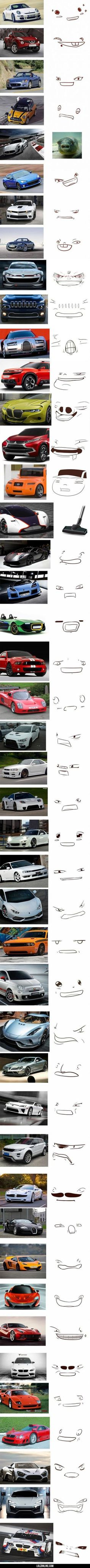 The many faces of cars#funny #lol #lolzonline