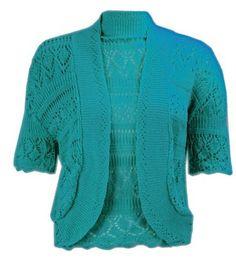 Z10 NEW WOMENS KNITTED BOLERO PLUS SIZE SHRUG CROCHET LADIES CARDIGAN TOP 12-32: Amazon.co.uk: Clothing