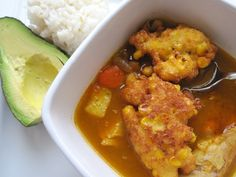 Frijoles Verdes con Torticas de Choclo (Bean Soup with Corn Fritters)