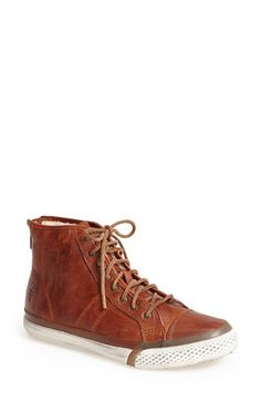 Frye+'Greene'+Back+Zip+Shearling+Lined+Leather+High+Top+Sneaker+(Women)+available+at+#Nordstrom