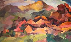 Springtime at Pikes Peak. Painting by Charley Edelman.