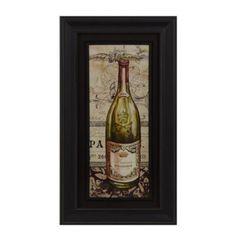 French White Wine Framed Art Print   Kirkland's