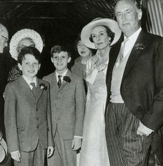 Loved son: Caspar, pictured far left, was the only son of Ann and Ian Fleming, pictured right, and it was to him that the Bond author wrote Chitty Chitty Bang Bang Patrick Leigh Fermor, Bond Series, Dr Williams, Vintage Sports Cars, James Bond Movies, My Dear Friend, Bang Bang, Mail Online, Biography