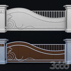Iron Main Gate Design, Gate Wall Design, Front Wall Design, Steel Gate Design, House Gate Design, Wrought Iron Garden Gates, Metal Gates, Home Window Grill Design, Architect Design House