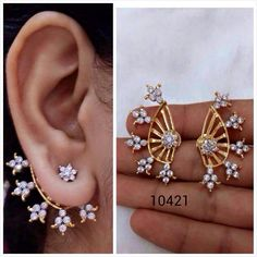 Latest Designer Ear Cuff Collections | Elegant Fashion Wear  Price : 1200   #earrings #earcufs #latestfashion
