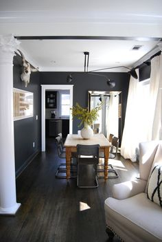 Alison & Derek's Atlanta Home in Shades of Black & White