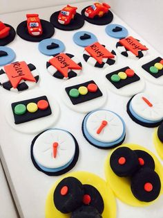 Cars McQueen Cupcake Fondant Toppers 12 on Etsy, $26.00