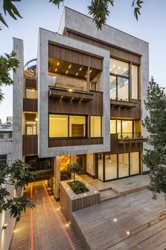 Modern Home Luxury, Mehrabad House / Sarsayeh Architectural Office Home Architecture Design, Sections Architecture, House Interior Design, Architecture Geometric, Contemporary Architecture, Light Architecture, Interior Luxuoso, Pavilion Architecture, Architecture Office