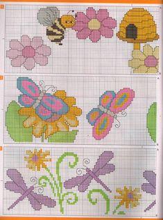 borboletas ponto cruz graficos