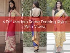 DIY Saree Draping Styles, Different Saree Draping Styles with Videos, Different Saree Draping Styles with Pictures.