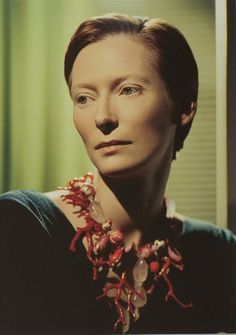 tilda. I saw her in an airport once. She and her boyfriend were wearing red, white and black skull & cross bones socks. Adorable.