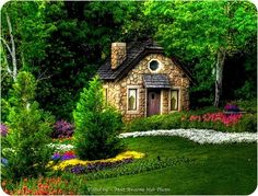 Looks like a cottage right out of a fairy tale....