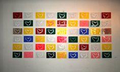 PeaceBomb - Mozaïque 54 PeaceBombs come together. I... Credit: Marisha Gulmann (Click to Support Artist) #peacebomb #peace #art #artist #miaaw.com