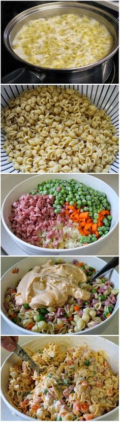 Summer pasta salad. Perfect salad for lunch or a picnic.