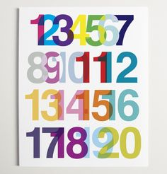Numerical Ode to Helvetica Print {ryan beshara} - SO cool!!!