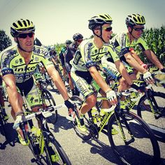After 16 stages Rafal, Matteo, Michael and the rest of the squad can take a well deserved rest day, before the final daunting stages in the Alps! #TDF2015 #cycling #TinkoffSaxo #teamwork