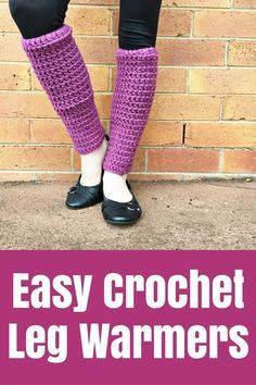 Easy Crochet Leg Warmers - The Crafty Mummy - these snuggly leg warmers were super quick and easy to create from 2 balls of yarn