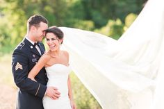Vibrant Salamander Resort Wedding Photos of Bride and Military Groom.