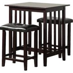 Charlton Home® Rea 3 Piece Dining Set & Reviews | Wayfair Breakfast Nook Dining Set, Dining Nook, Dining Room Sets, Solid Wood Dining Set, 3 Piece Dining Set, Contemporary Dining Sets, Counter Height Pub Table, Bar Table Sets, Wood Table Bases