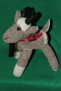 Handcrafted Sock Monkey Goat by SockMonkeyFarm on Etsy, $30.00