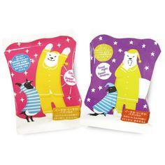 Good Night Bath Salt / charley / #japanese. how cute is this range of bath salts featuring the penguin + polar bear buddies