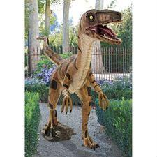 Dinosaur Statues - Life Size T-Rex & Raptor Sculptures - Design Toscano Leaf Stepping Stones, Velociraptor Dinosaur, The Good Dinosaur, Outdoor Landscaping, Garden Statues, T Rex, Prehistoric, Giraffe, Gardens