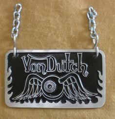Von Dutch Aluminum Car Club Plaque
