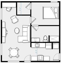 24 x 24 Garage conversion, 576 SF. Complete kitchen with stacking washer/dryer, eating area, large living area with office area, large bath, average sized bedroom with walk in closet.  ~ Great pin! For Oahu architectural design visit http://ownerbuiltdesign.com