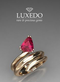 Ruby rose gold snake ring Create your unique jewel at Luxedogems.com www.luxedogems.com/jewels