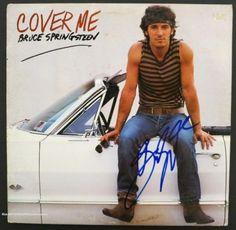 "Bruce Springsteen Autographed ""Cover Me"" LP Album Signed PSA DNA COA"