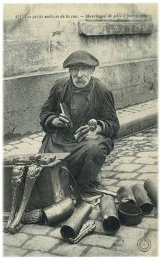 Blog de boiteaoutil :Les vieux métiers et vieux outils, Les petits métiers de la rue : Le nettoyeur de fourneaux