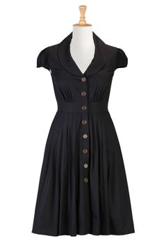 I LOVE this!! Fit and flare poplin shirt dress $38.95