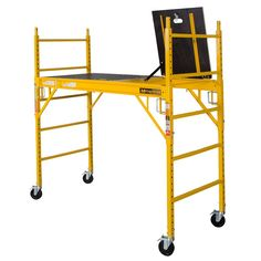 Complete all your indoor works easily while you painting or shifting home using this durable MetalTech Safeclimb Baker Style Scaffold. Techno Gadgets, Home Electrical Wiring, Pipe Desk, Welding Table, Scaffolding, Machine Tools, Garage, Tool Box, Drafting Desk
