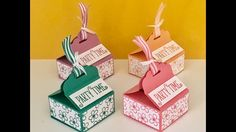 Tag Topper Gift Box - Video Tutorial using Happy Birthday, Gorgeous by S...