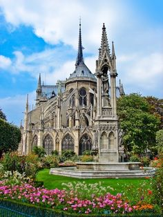 "Notre Dame, Paris.  This great Gothic cathedral represents the geographical ""heart"" of France."