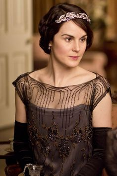 Downton Abbey Clothing | The Downton dinner table provides ample hair accessory inspiration ...