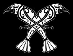 """Huginn & Muninn (Old Norse for """"Thought"""" and """"Memory"""")"""