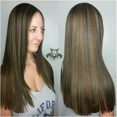 Dark Chocolate & Caramel Tones ● Keratin Complex Smoothing Treatment - http://sarasotabradentonhairsalon.com/dark-chocolate-caramel-tones-%e2%97%8f-keratin-complex-smoothing-treatment/