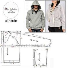 Hoodie Pattern, Jacket Pattern, Dress Sewing Patterns, Clothing Patterns, Sewing Blouses, Make Your Own Clothes, Diy Clothing, Fashion Sewing, Mode Inspiration