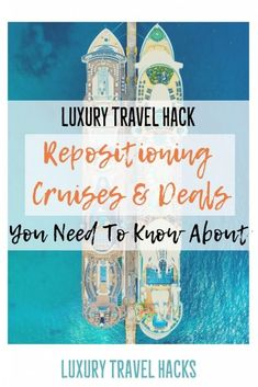 Repositioning cruises are the ultimate luxury travel hack for travellers looking for a bargain. These cheap repositioning cruise deals are often discounted. Best Cruise, Cruise Tips, Cruise Travel, Cruise Vacation, Vacation Ideas, Cheap Cruises, Repositioning Cruises, Cruise Insurance, Cruises