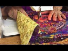 Free-Motion Quilting on Fabric Collage Quilts   Susan Carlson Quilts