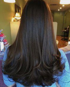 super ideas for hair long peinados cabello largo Haircuts Straight Hair, Long Hair Cuts, Medium Hair Styles, Curly Hair Styles, Twisted Hair, Long Layered Hair, Hair Highlights, Color Highlights, Gorgeous Hair