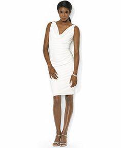 Lauren Ralph Lauren Dress, Sleeveless Embelished Cowl-Neck - Dresses - Women - Macy's
