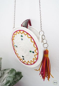 How to make a pretty round purse using rope | Ohoh Blog - DIY and crafts