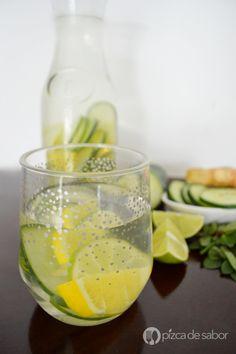 Agua détox o para eliminar toxinas www.pizcadesabor.com